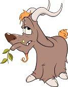 Goat. Cartoon