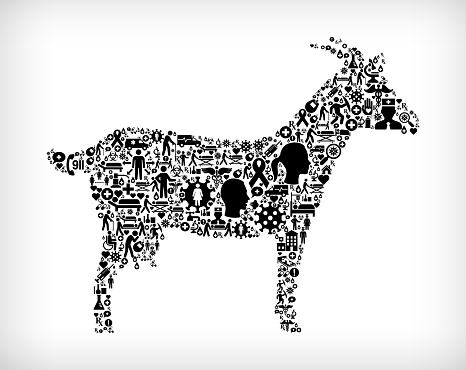 Goat Flu Coronavirus Icon Pattern
