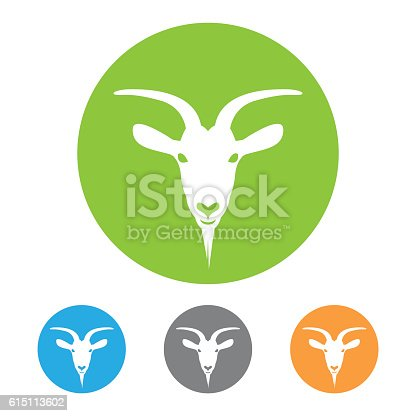 Goat head icon vector. Eps10 vector illustration with layers (removeable). Png, Pdf and high resolution jpeg file included (300dpi).