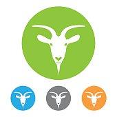 Goat head icon vector