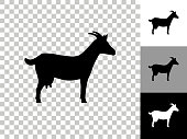istock Goat Icon on Checkerboard Transparent Background 1248123892