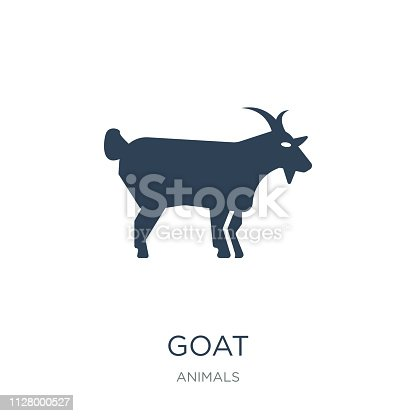 goat icon vector on white background, goat trendy filled icons from Animals  collection