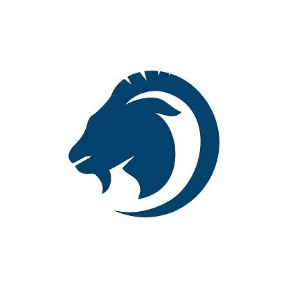 goat logo design vector. creative brand sign of goat symbol. eps.10 icon illustration