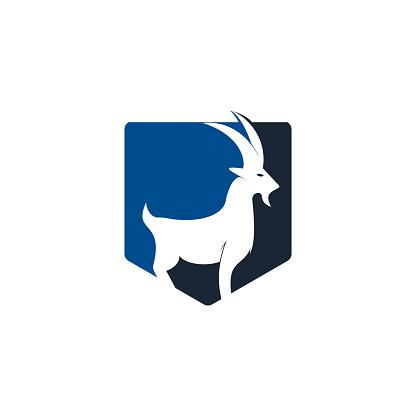 Goat Simple Logo Template Design.