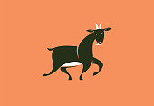 vector illustration of goat symbol