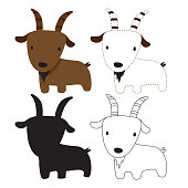 goat worksheet vector design