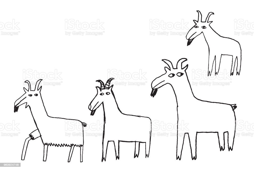Goats - Royalty-free Agriculture stock vector