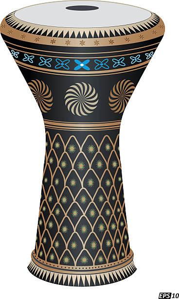 Goblet Drum Goblet Drum in vector tavla stock illustrations