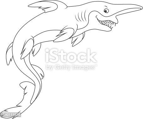 Goblin shark immagini vettoriali stock e altre immagini for Squalo da colorare