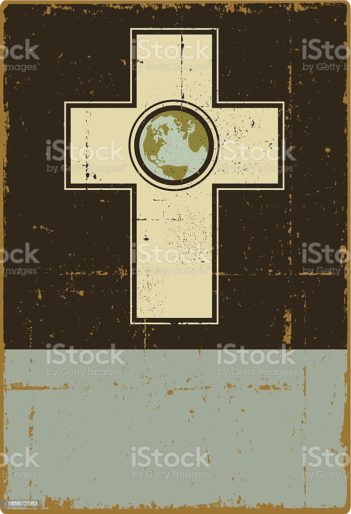 God Bless the World royalty-free stock vector art