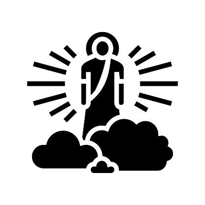 god christianity glyph icon vector illustration