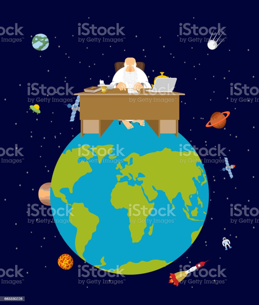God is boss earth. director and Desktop. Planet earth in space. Stars and planets ilustración de god is boss earth director and desktop planet earth in space stars and planets y más banco de imágenes de adulto libre de derechos
