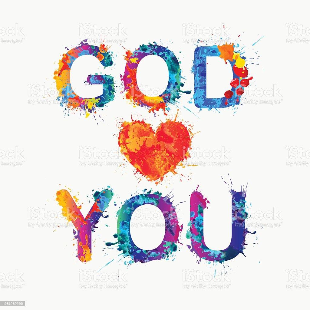 God loves you. vector art illustration