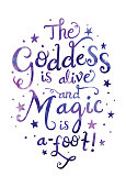 Goddess Alive Watercolor Typography