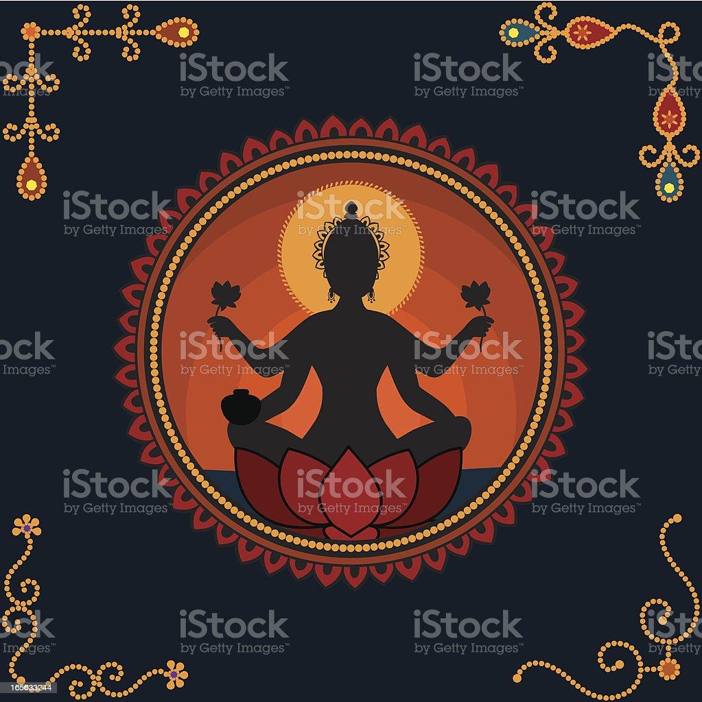 Goddess Lakshmi royalty-free stock vector art