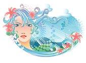 Vector Illustration - Goddess of Spring