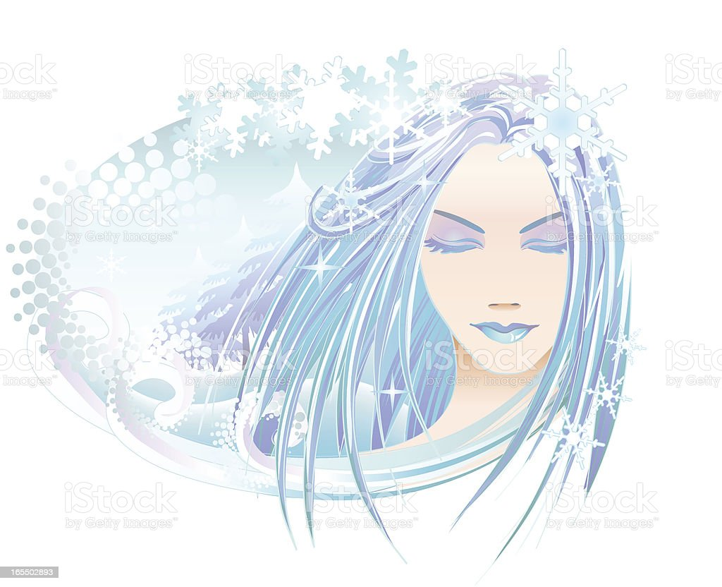 Goddess of Winter royalty-free goddess of winter stock vector art & more images of abstract