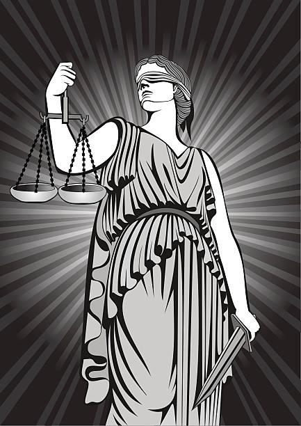 ilustraciones, imágenes clip art, dibujos animados e iconos de stock de diosa themis.equality .a fair trial.law - civil rights