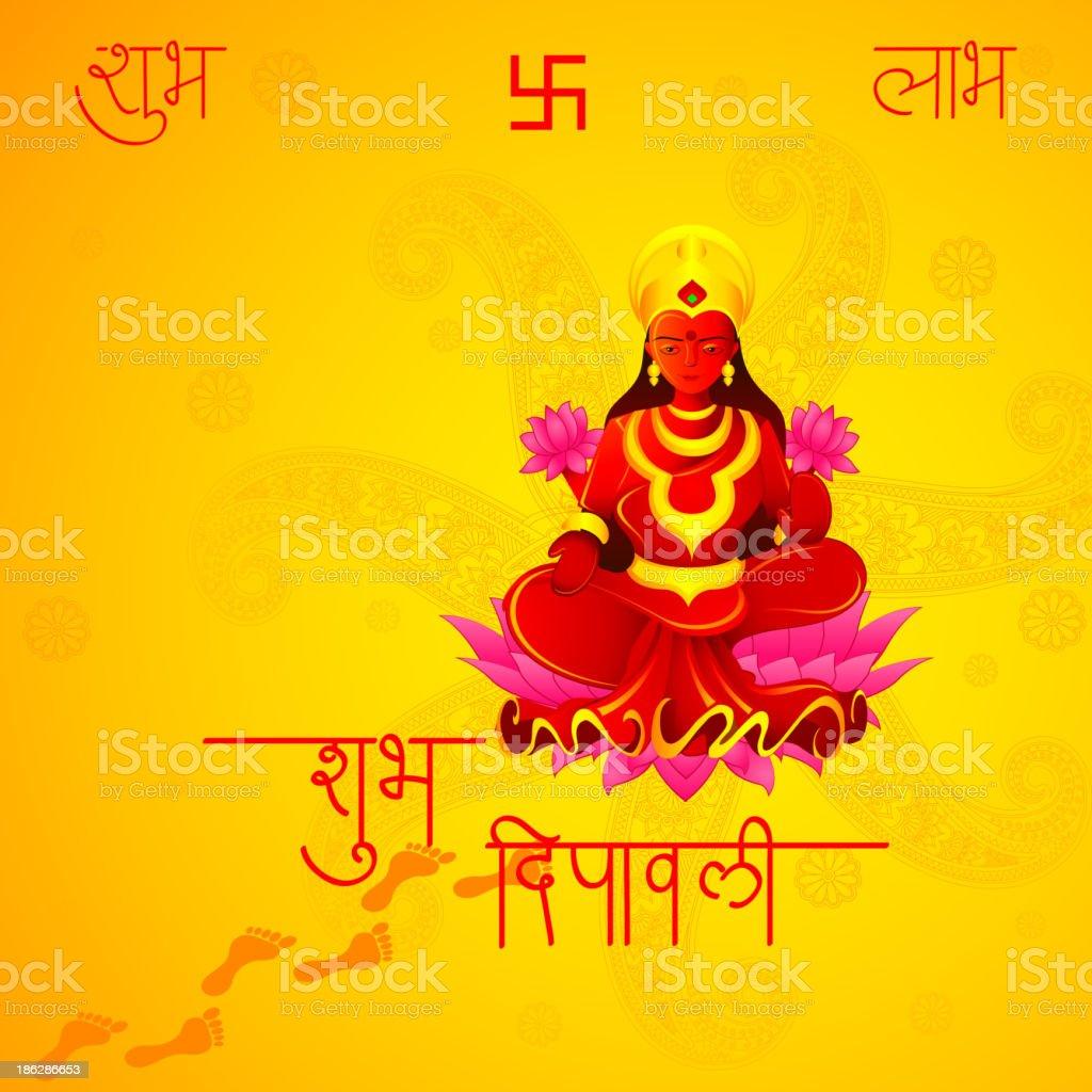 Godess Lakshmi in Diwali royalty-free stock vector art