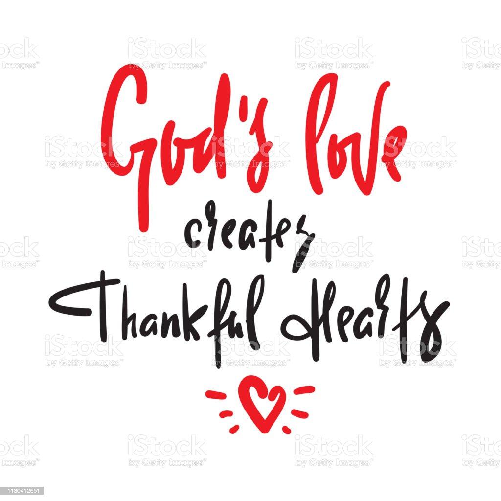 Vetores De O Amor De Deus Cria Coração Agradecido Religiosos
