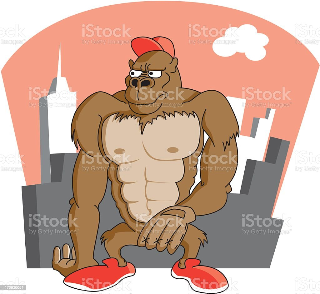 Godzilla In The City royalty-free godzilla in the city stock vector art & more images of ape