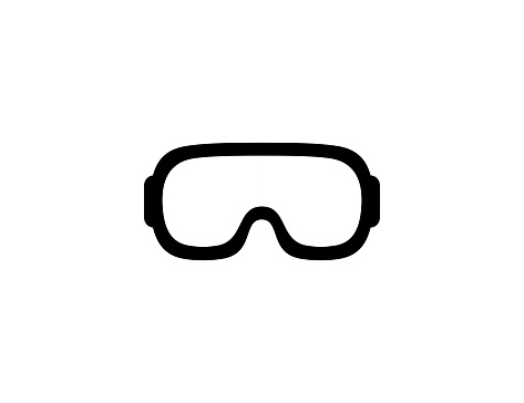 Goggles icon. Isolated goggles protective eyewear symbol - Vector