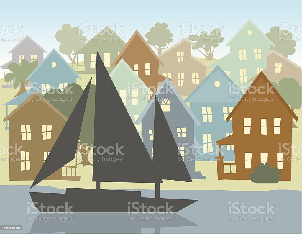 Going Sailing - Royalty-free Backgrounds stock vector