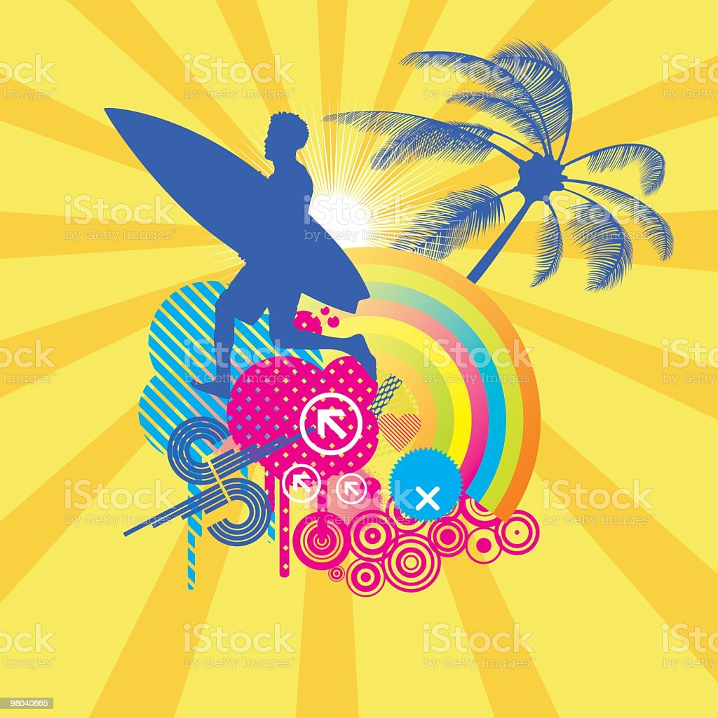 Going surfing royalty-free going surfing stock vector art & more images of abstract