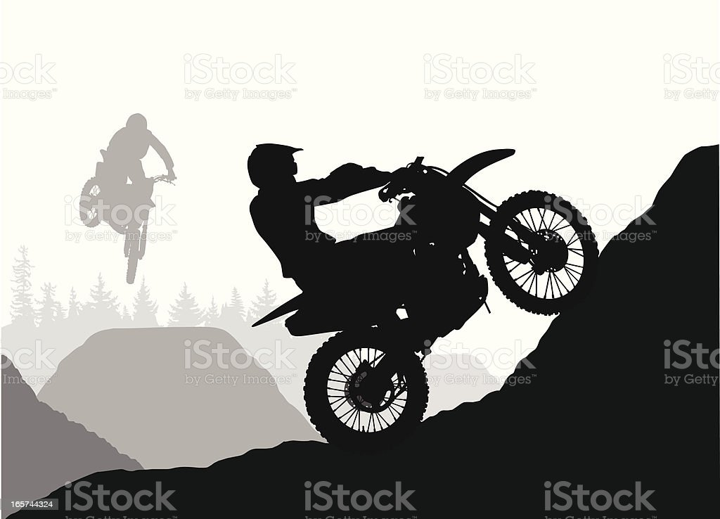 Going Up! Vector Silhouette royalty-free stock vector art