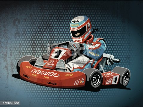 istock Go-Kart Racing Grunge Color 476641633