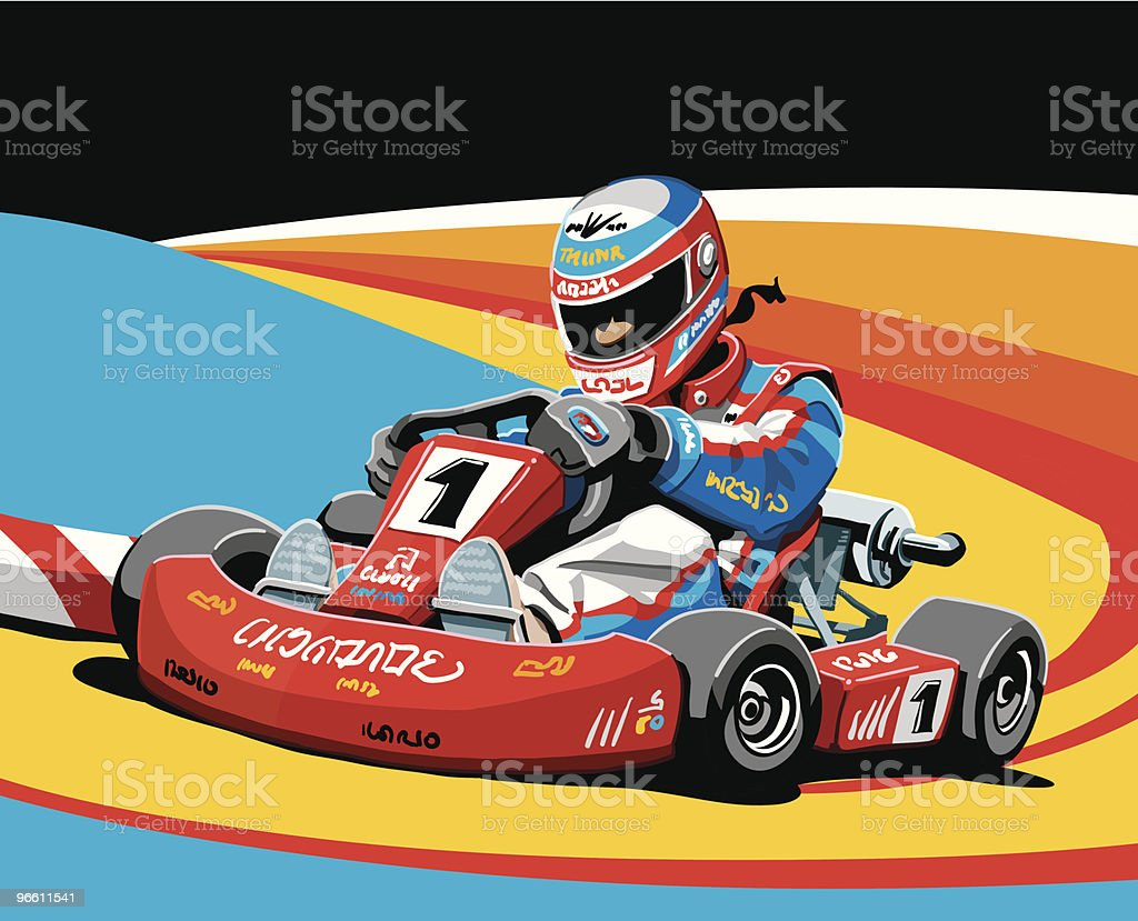 Go-Kart Racing - Royalty-free Adult stock vector