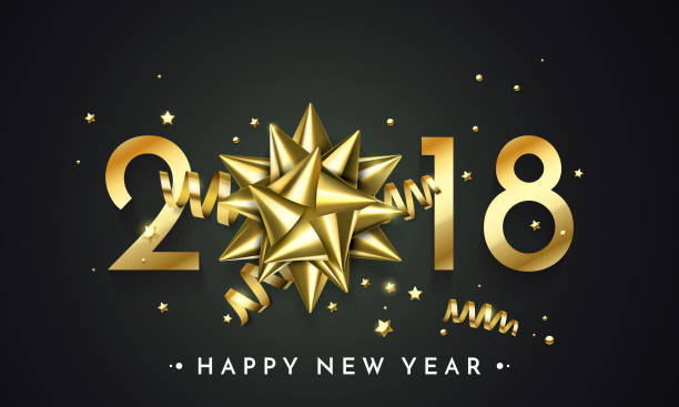 gold new year 2018 luxury symbol clip art vector images illustrations