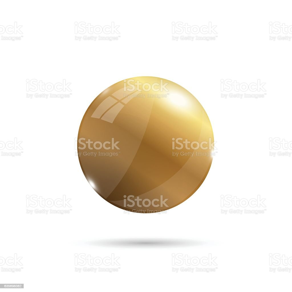 Gold 3d sphere illustration royalty-free gold 3d sphere illustration stock vector art & more images of circle