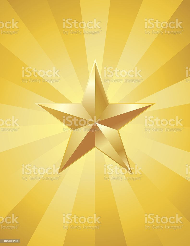 Gold 3D Star royalty-free gold 3d star stock vector art & more images of achievement