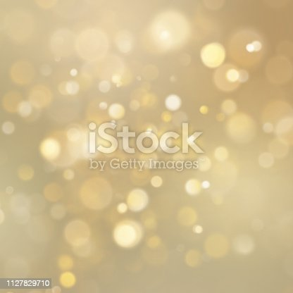 Gold abstract background with bokeh defocused lights. EPS 10 vector file