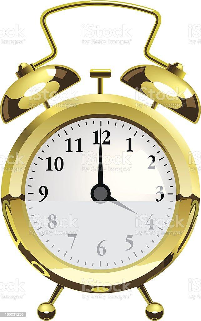 Gold Alarm Clock royalty-free stock vector art