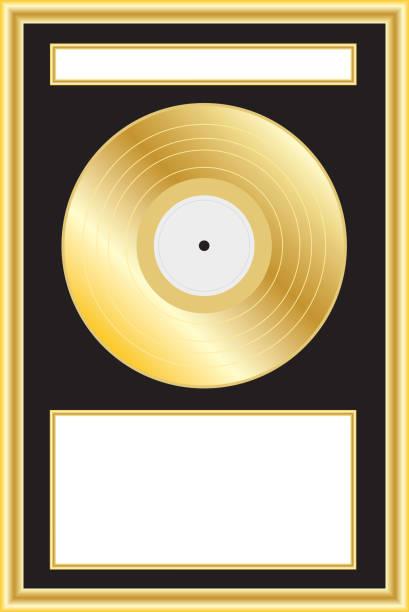 Gold Album Award or Plaque vector art illustration
