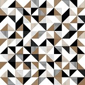 A gold and black geometric background