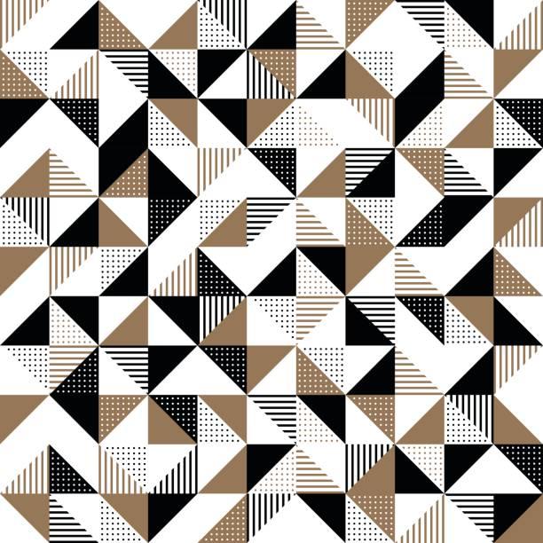 ilustraciones, imágenes clip art, dibujos animados e iconos de stock de un fondo geométrico negro y oro - patrones de azulejos