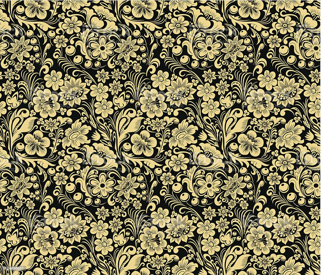 Gold and black seamless pattern royalty-free gold and black seamless pattern stock vector art & more images of art and craft