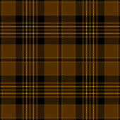 Gold and black traditional tartan plaid seamless pattern background.