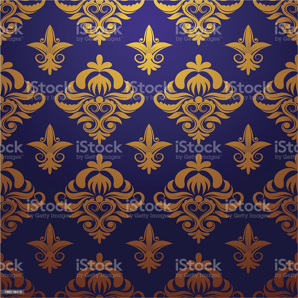 Gold and Purple Parttern Ornament vector art illustration