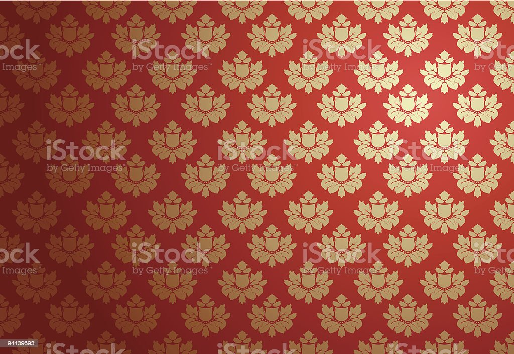 Gold and red glamour pattern royalty-free stock vector art