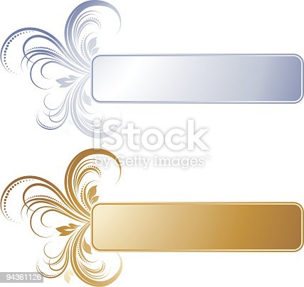 Gold And Silver Banner Stock Vector Art & More Images of ...