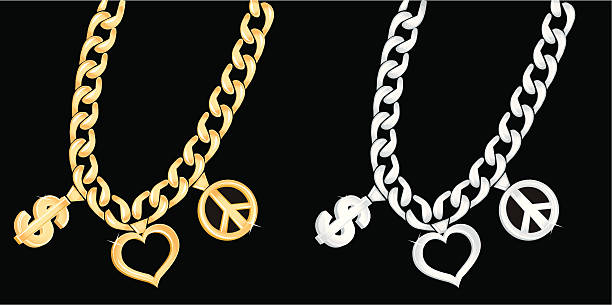 Best Gold Chain Necklace Illustrations Royalty Free