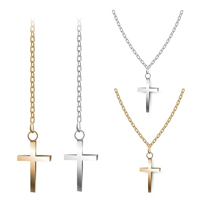 Gold and silver crosses
