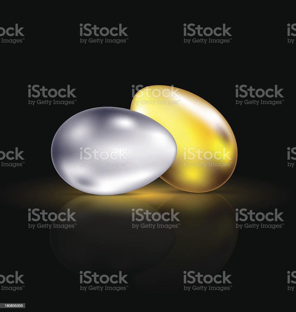 gold and silver eggs royalty-free stock vector art
