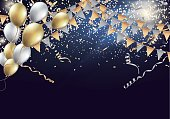 Celebration design with shining particles. Vector EPS10 format.