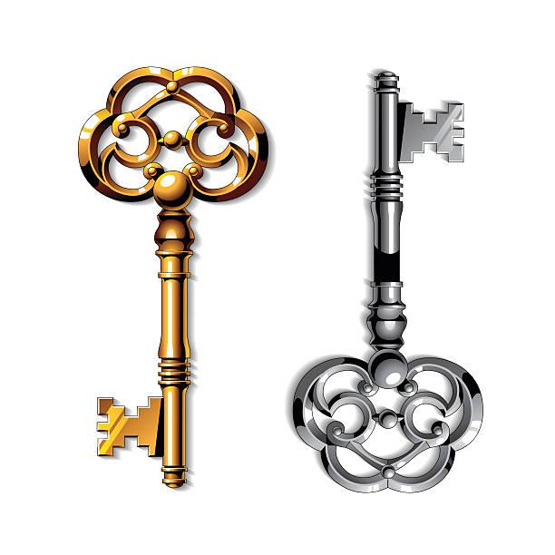 Vector Key Illustration: Best Golden Key Illustrations, Royalty-Free Vector