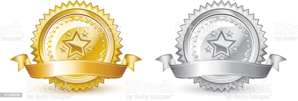 Gold and silver seal royalty-free gold and silver seal stock vector art & more images of achievement